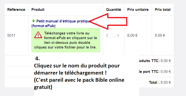 télécharger un ebook etape 3
